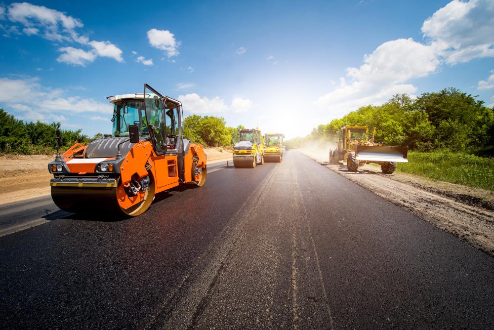 prace nad budową drogi