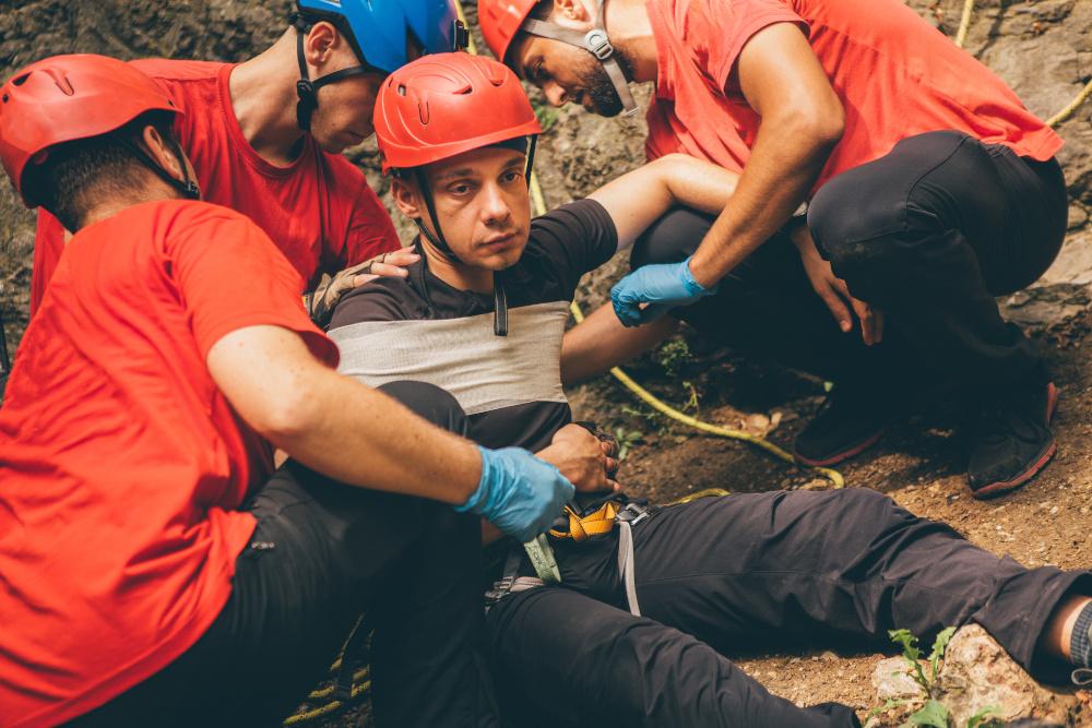udzielanie pierwszej pomocy górnikowi